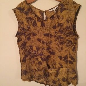 French Connection Pattern Tank Top Open Back